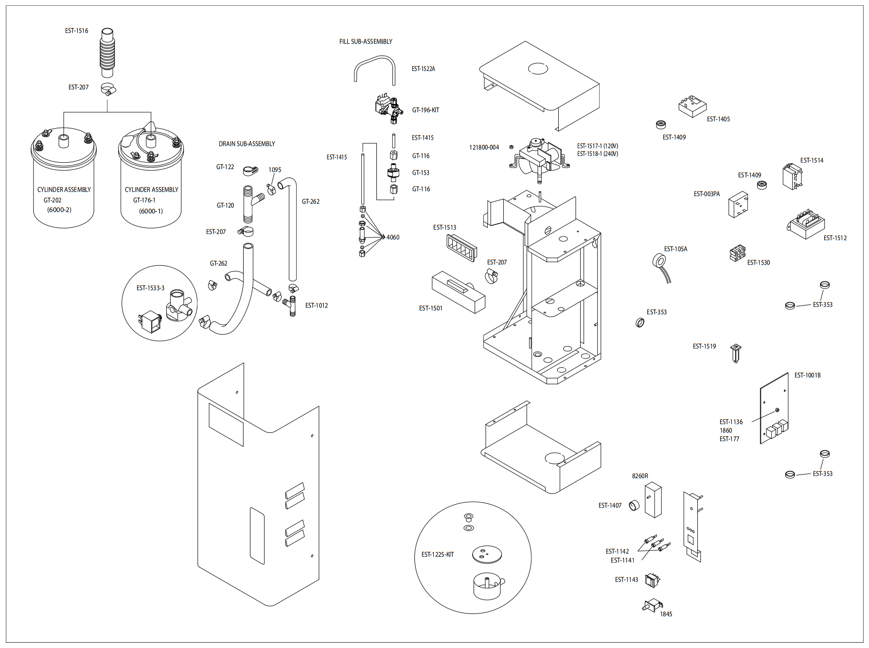 Brycosystems Herrmidifier Parts Steam Cylinder Air Schematic Herrtonic Replacement Dual Pneumatic